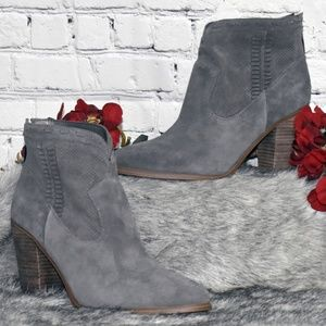 Perforated Suede Ankle Boots - Fretzia (Sz 10M)